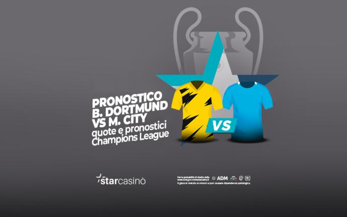 Pronostici e quote Borussia Dortmund Manchester City